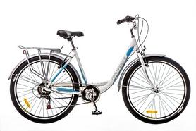 """Велосипед городской женский Optimabikes Vision 14G Vbr Al 2016 26"""" бело-синий, рама - 18"""""""
