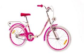 """Велосипед складной Dorozhnik Star с багажником 2016 - 20"""", рама – 13"""", бело-розовый (OPS-D-20-022-4)"""
