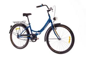 """Велосипед складной Dorozhnik Smart с багажником 2016 - 24"""",  рама, – 15"""", синий (OPS-D-24-006-1)"""