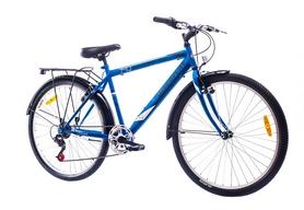 """Велосипед городской Discovery Prestige Man 14G Vbr St 26"""" с багажником черно-серо-зеленый 2016 рама – 18"""""""