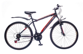 """Велосипед горный Discovery Trek 14G Vbr St 26"""" черно-серо-красный 2016 рама – 15"""""""