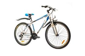 """Велосипед горный Optimabikes Sprinter AM 14G 2015 - 26"""", рама - 17"""", бело-синий (PCT*-OP-26-004-1)"""
