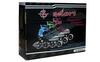 Коньки роликовые раздвижные ZEL Z-9001B Foliage синие - фото 3