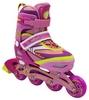 Коньки роликовые раздвижные ZEL Z-5104PY Candy розово-желтые - фото 1