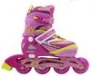 Коньки роликовые раздвижные ZEL Z-5104PY Candy розово-желтые - фото 2