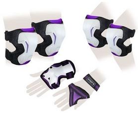 Защита для катания (комплект) Zel SK-4677V Grace фиолетовая