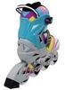 Коньки роликовые раздвижные ZEL Z-800B Abstract голубые - фото 3