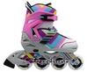 Коньки роликовые раздвижные ZEL Z-800P Abstract светло-розовые - фото 1