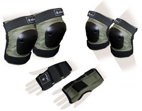 Защита для катания (комплект) Zel SK-4680H Metropolis хаки
