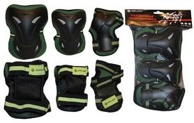 Фото 1 к товару Защита для катания (комплект) Zel SK-3505 зеленая