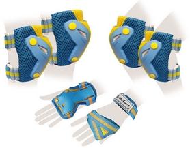 Защита для катания (комплект) Zel Perfection SK-4685BY сине-желтая