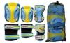 Защита для катания (комплект) Zel Perfection SK-4685BY сине-желтая - фото 2