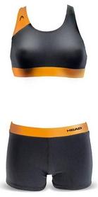 Купальник женский Head Splice Bikini Plus черно-оранжевый