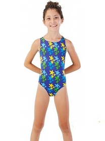 Фото 2 к товару Купальник детский Head Starfish Girl синий
