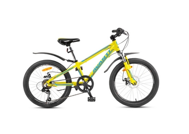 Велосипед детский Avanti Turbo 20'' Disk 2016 желто-серый рама - 10