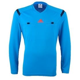 Фото 1 к товару Футболка арбитра с длинным рукавом Adidas REF 14 JSY LS голубая