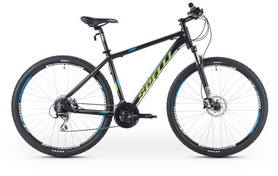 """Велосипед горный Spelli SX-5500 29ER 2016 черно-зеленый матовый - 21"""""""