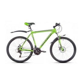 """Велосипед горный Intenzo Flagman 26"""" зелено-черный матовый рама 19"""""""