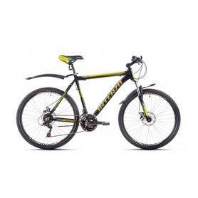 """Велосипед горный Intenzo Flagman 26"""" черно-желтый матовый рама 21"""""""