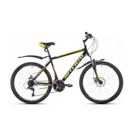"""Велосипед горный Intenzo Legion 26"""" черно-желтый матовый рама 19"""""""