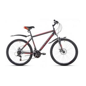 """Велосипед горный Intenzo Legion 26"""" серо-красный матовый рама 21"""""""