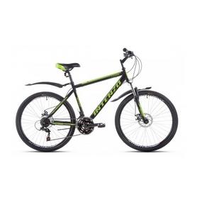 """Велосипед горный Intenzo Legion 26"""" черно-зеленый матовый рама 21"""""""