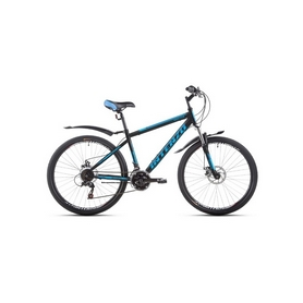 """Велосипед горный Intenzo Master 26"""" черно-голубой матовый рама 17"""""""