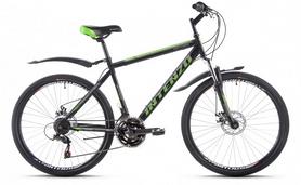 """Велосипед горный Intenzo Saturn 26"""" черно-зеленый матовый рама 19"""""""