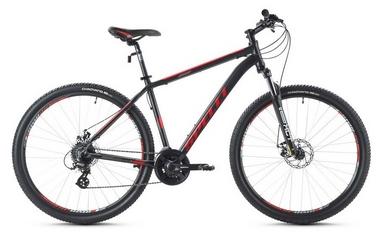 Велосипед горный Spelli SX-3500 29ER 2016 черно-красный матовый - 17