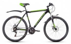 """Велосипед горный Intenzo Flagman 29"""" черно-зеленый матовый рама 21"""""""