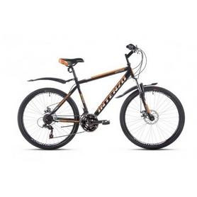"""Велосипед горный Intenzo Saturn 26"""" черно-оранжевый матовый рама 21"""""""