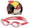 Набор для плавания Head Meteor Character (очки + шапочка) черно-красный - фото 1