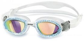 Очки для плавания с зеркальным покрытием Head SuperFlex+ дымчатые