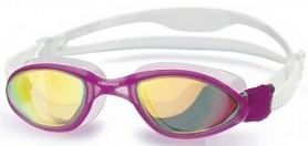 Фото 1 к товару Очки для плавания с зеркальным покрытием Head Tiger LSR+ розовые