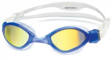 Очки для плавания с зеркальным покрытием Head Tiger LSR+ синие
