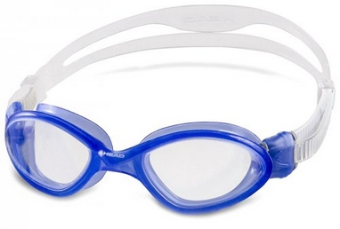 Очки для плавания Head Tiger Mid LSR бело-синие