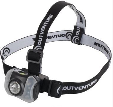 Фонарь налобный Outventure 40 lumens OIE71299 черный