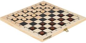 Фото 2 к товару Набор настольных игр 2 в 1 (шахматы и шашки деревянные) Torneo TRN-SH1