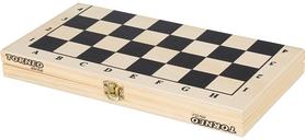 Фото 3 к товару Набор настольных игр 2 в 1 (шахматы и шашки деревянные) Torneo TRN-SH1