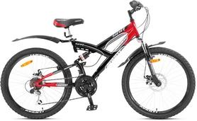 """Велосипед подростковый горный Avanti Hacker Disc 2016 - 24"""", рама - 16"""", красный (RA04-928-RED-K)"""