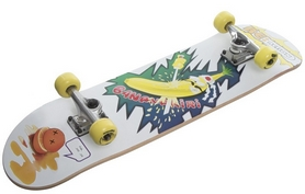 Скейтборд Reaction Skateboard RSKB31596 белый/желтый