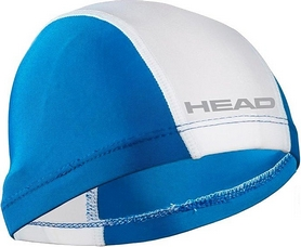 Шапочка для плавания Head Spandex Lycra JR Cap бело-голубая