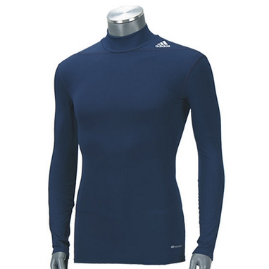 Футболка компрессионная Adidas TF Base W MOC темно-синяя