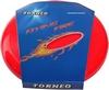 Тарелка летающая фрисби Torneo 25 см красная - фото 1
