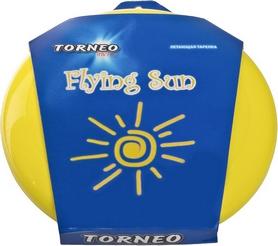 Тарелка летающая фрисби Torneo 23 см желтая