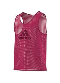 Накидка (манишка) тренировочная Adidas TRG BIB 14 F82134 малиновая
