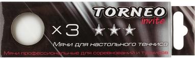 Набор мячей для настольного тенниса Torneo 3-Star TI-BWT1000 (3 шт)