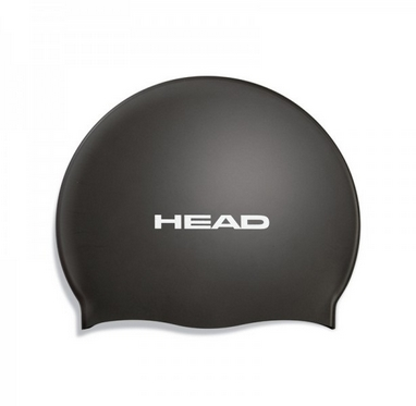 Шапочка для плавания Head Silicone Flat single color pearl black