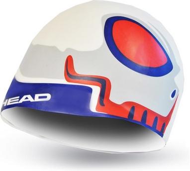 Шапочка для плавания детская Head Silicone Sketch Fish белая
