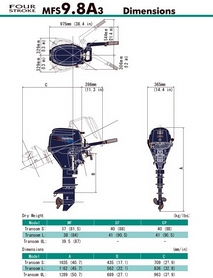 Фото 2 к товару Мотор лодочный четырехтактный Tohatsu MFS9.8A3 EFL